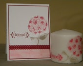 Friendship candle with matching card