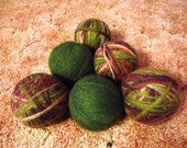 RTS- Set of 6 Reusable Wool dryer balls-  Great for Cloth Diapers and Eco Friendly Laundry