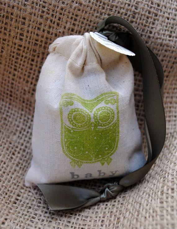 WISE OWL  Sachet Bags / Baby Shower Favors