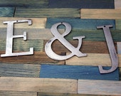 Industrial Metal Letter:  Your Choice w/ FREE Shipping