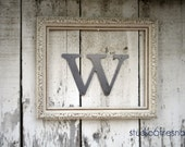 "12 Inch Lowercase Industrial Metal Letter ""w"" With FREE Shipping"