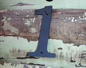 "Lowercase Industrial Metal Letter ""i"" With FREE Shipping"