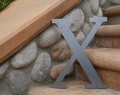 "Industrial Raw Metal Letter ""X"" With FREE Shipping"