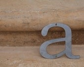 "Industrial Raw Metal Letter ""a"" With FREE Shipping"