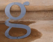 "Industrial Raw Metal Letter ""g"" With FREE Shipping"