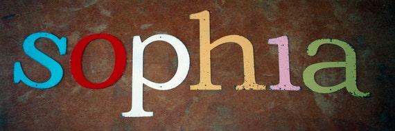 Vintage Inspired Lowercase Metal Letter of Your Choice