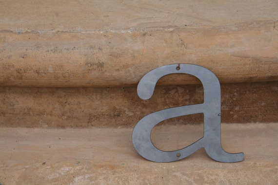 """Industrial Raw Metal Letter """"a"""" With FREE Shipping"""