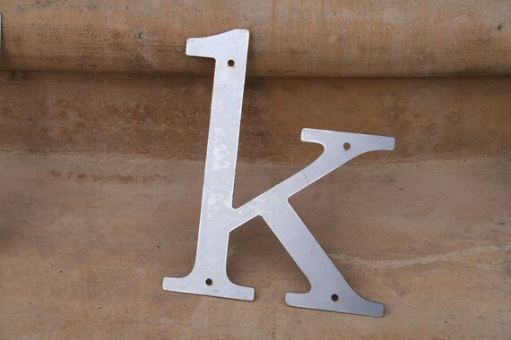 """Industrial Raw Metal Letter """"k"""" With FREE Shipping"""