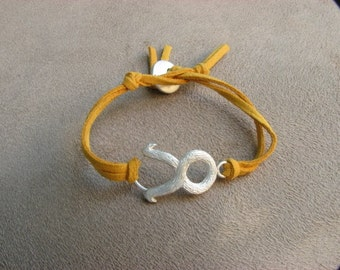 TAURUS - Silver and Leather Zodiac Bracelet