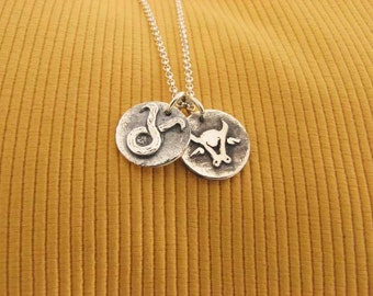 Sterling Silver Taurus Zodiac Sign Necklace