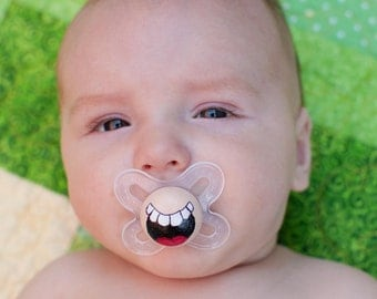 Laugh it Up- Custom Hand Painted Pacifier