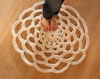 Crochet Doily Rug PDF Pattern