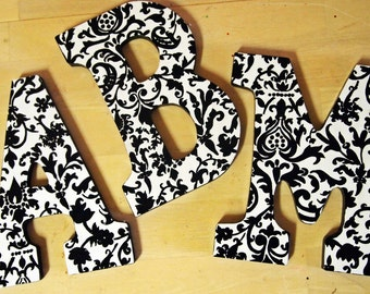 9 inch Black and White Print Letters