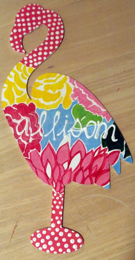 Wooden Lilly Pulitzer Inspired Animals