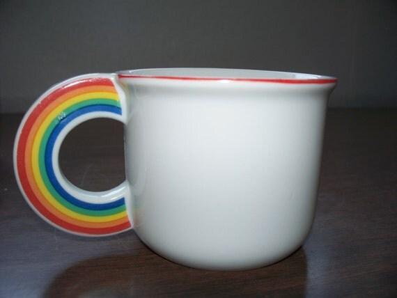 Vintage Vandor Rainbow Mug Cup 1970s