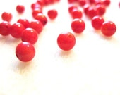 Coral 5mm Round Beads