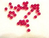 Woodstock Retro:  Czech Druk Red 6 mm Round Bead