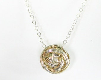 Sterling Silver Wire Ball Chain Necklace