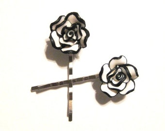 Polymer Clay Rose Bobby Pin B-3