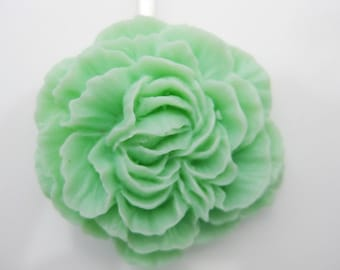 Large Mint Green Carnation Bobby Pin