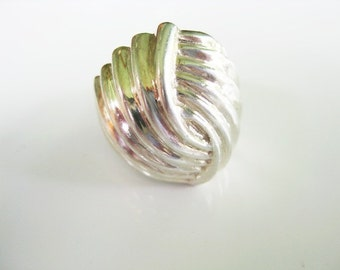 925 Sterling Silver Modernist Vintage Ring