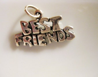 Sterling Silver Charm:  Best Friends