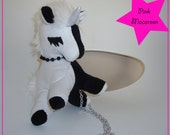 MINI Unicorn bag Black & White split