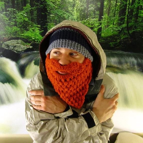 Beard Beanie - Crochet Beard Hat - Christmas Gift for Dad - Gifts for Boyfriend - Funny Gift for Him - Ski Mask - Choose Your Colors