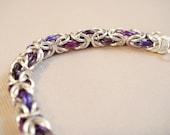 Petite Byzantine Bracelet in Purples