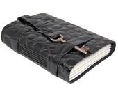 Black Leather Journal with Skeleton Key Bookmark