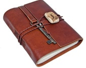 Light Brown Leather Journal with Antler Closure