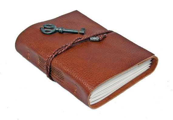 Key To My Heart Light Brown Leather Journal