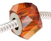 Swarovski Crystal 5920 BeCharmed Helix Bead - 4.5mm Hole Fits Pandora 'Crystal Red Magma' x1 - SWBB-5005