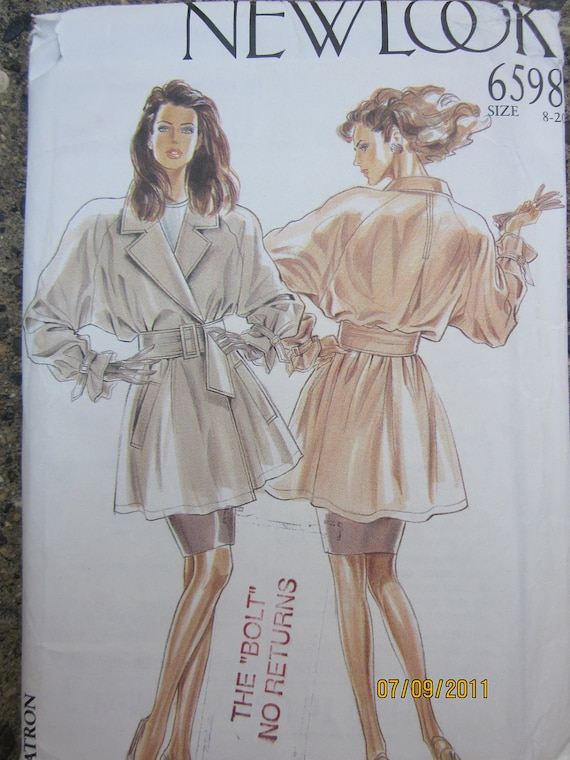 New Look 6598 Womens French Style overcoat, Uncut