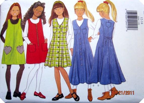 Butterick 4696 Jumper Dress Top Sewing Pattern