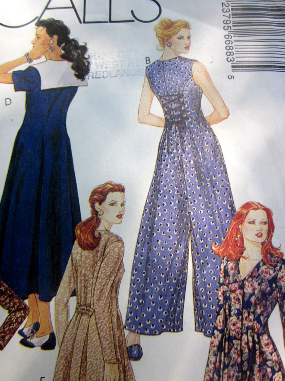 Elegant Vintage Women39s Jumpsuit Sewing Pattern Size Small