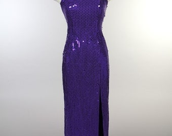 Purple sequence gown