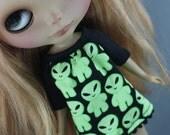 Blythe Smock Style Dress - Little Green Alien Men RESERVED for beckynot