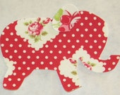 Rosie Dot Valentine Iron or Sew On Elephant Applique