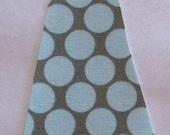 Slate Blue Polka Dot Iron or Sew On Tie Applique