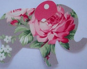 Iron or Sew On Elephant Applique Ava Rose and Polka Dot