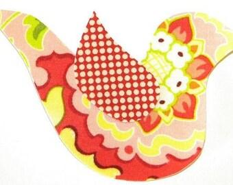 Pop Garden Iron or Sew on Fabric Bird Applique Heather Bailey Fabric