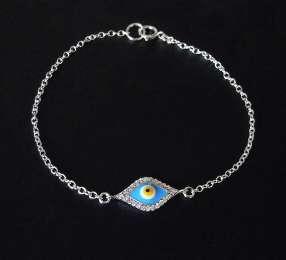 Kim Kardashian Evil Eye Bracelet - Sterling Silver