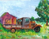 Richard's 'Ol Rusty Truck 2 Original ACEO