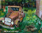 Richard's 'Ol Rusty Truck Original ACEO