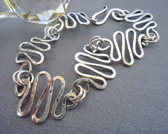 "Sterling Silver Bracelet ""Squiggles"""