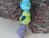 Cute Lampwork Bird Bead Set