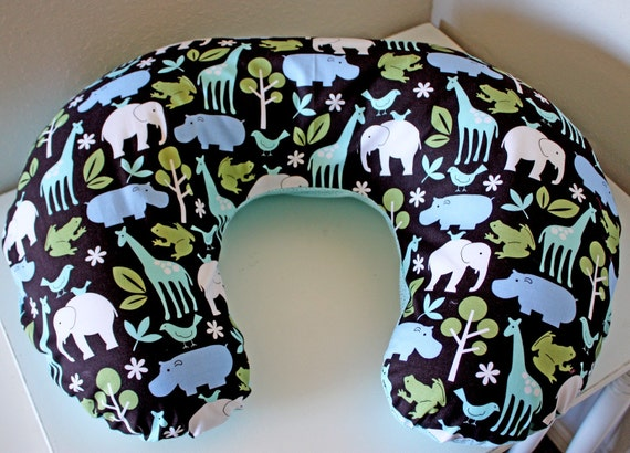 Animal Nursing Pillow : Animal Print Boppy Cover Nursing Pillow by poshhouseoriginals