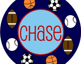 Personalized Boy Sports Melamine Plate and bowl