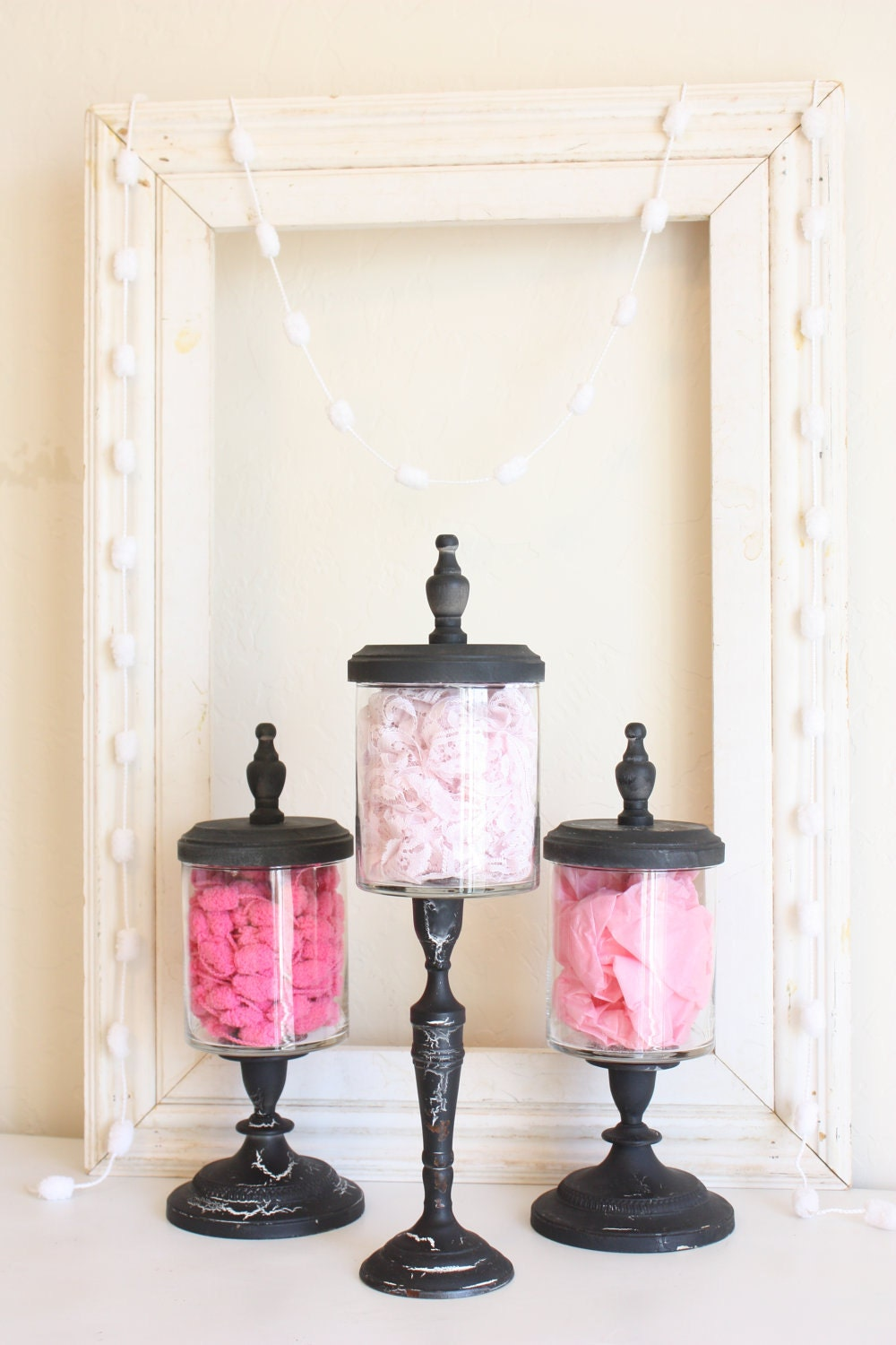 apothecary jars etsy hand crackle policies shipping